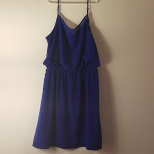 Cobalt blue express vneck dress